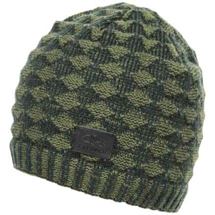 Screamer Diamond Waffle Beanie - Fleece Lined (For Men) in Moss/Forest - Closeouts