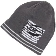 Screamer Fish Bait Knit Beanie Hat (For Kids) in Grey - Closeouts