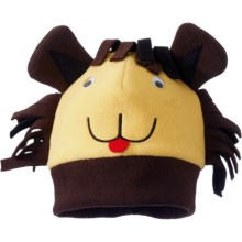 Screamer Fun Fleece Hat - Fully Lined (For Kids) in Gold Leo - Closeouts