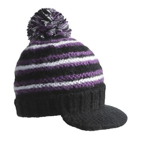 Screamer Harmony Billed Beanie Hat (For Women) in Black