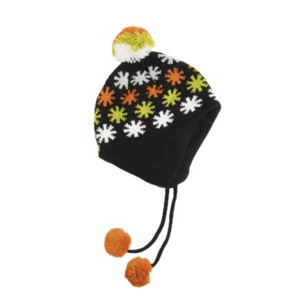 Screamer Hot Star Hat - Fleece Lining, Ear Flaps (For Women) in Black