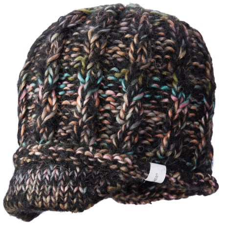 Screamer Katy Handknit Billed Beanie - Wool Blend (For Women)