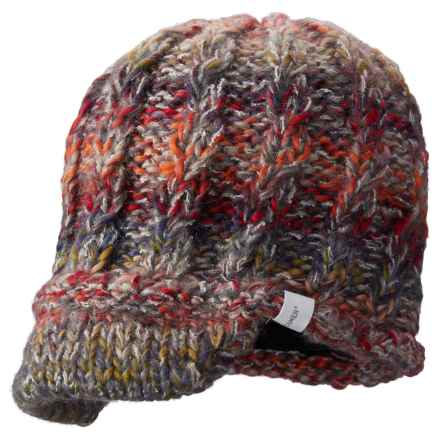 Screamer Katy Handknit Billed Beanie - Wool Blend (For Women) in Rust/Heather - Closeouts
