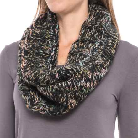 Screamer Katy Handknit Infinity Scarf - Wool Blend (For Women) in Black/Charcoal/Melon - Closeouts