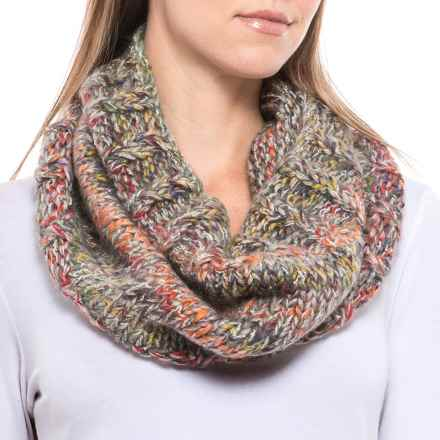 Screamer Katy Handknit Infinity Scarf - Wool Blend (For Women) in Rust Heather - Closeouts