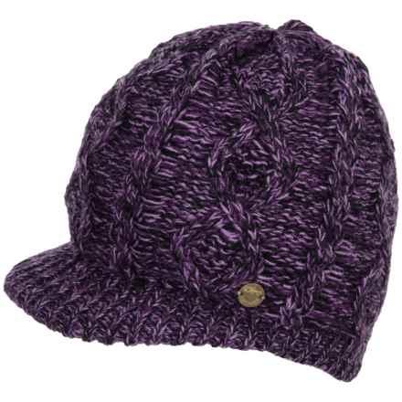 Screamer Manhattan Billed Beanie (For Women) in Purple - Closeouts