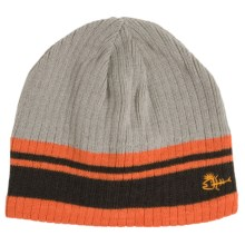 Screamer Mohawk Dude Knit Beanie Hat (For Little and Big Kids) in Orange/Charcoal - Closeouts