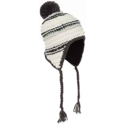 Screamer Nikka Ridge Beanie - Ear Flaps (For Women) in White/Charcoal - Closeouts