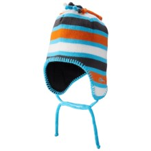 Screamer Poptart Beanie - Ear Flaps, Fleece Lined (For Little and Big Kids) in Blue/Orange - Closeouts