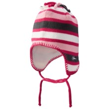 Screamer Poptart Beanie - Ear Flaps, Fleece Lined (For Little and Big Kids) in Rose/Charcoal - Closeouts