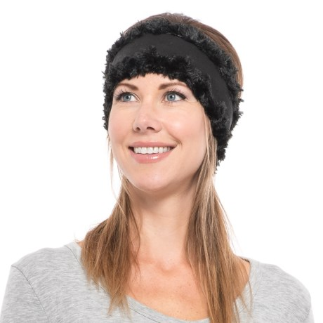 Screamer Princess Fleece Headband (For Women) in Black