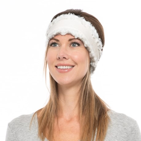 Screamer Princess Fleece Headband (For Women) in White