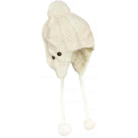 Screamer Robin Beanie - Ear Flaps (For Women) in Winter White - Closeouts