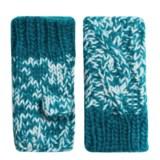 Screamer Robin Handknit Fingerless Mittens - Fleece Lined (For Women)