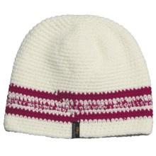 Screamer Sapphire Beanie Hat (For Women) in White/Rose - Closeouts