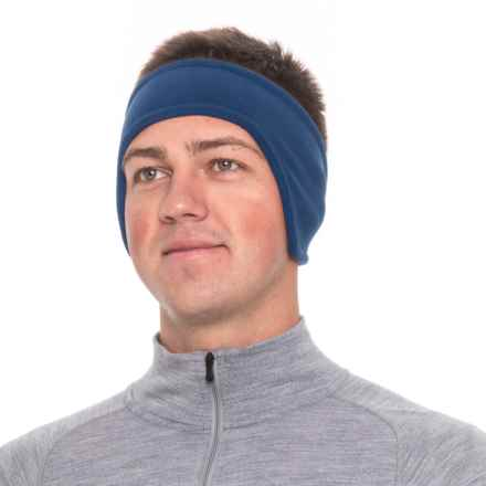 Screamer Shaped SuperSoft Fleece Headband (For Men) in Blue - Closeouts
