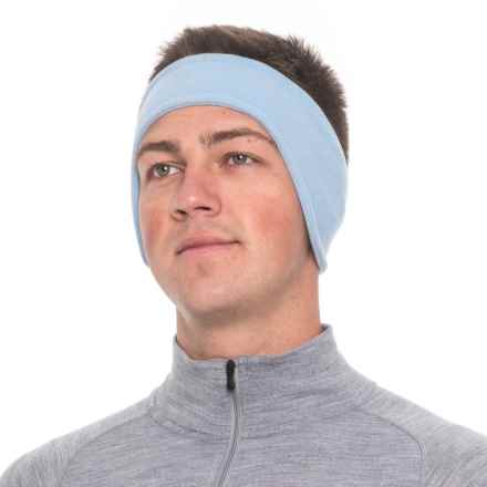 Screamer Shaped SuperSoft Fleece Headband (For Men) in Light Blue/Powder - Closeouts