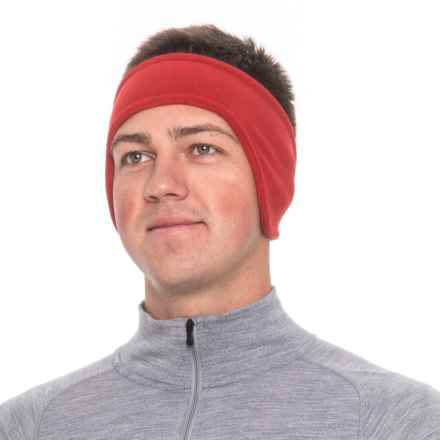 Screamer Shaped SuperSoft Fleece Headband (For Men) in Red - Closeouts