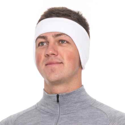 Screamer Shaped SuperSoft Fleece Headband (For Men) in White - Closeouts