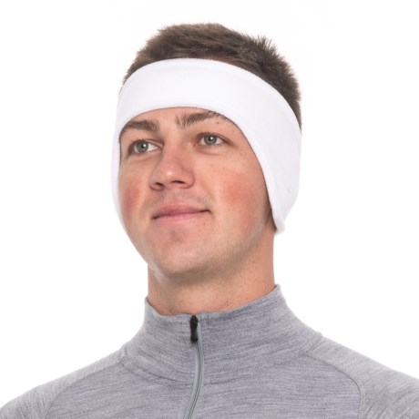 Screamer Shaped SuperSoft Fleece Headband (For Men) in White
