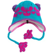 Screamer Sookie Beanie Hat (For Kids) in Candy Blue/Bright Rose - Closeouts