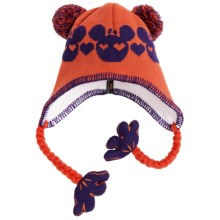 Screamer Sookie Beanie Hat (For Kids) in Orange/Purple - Closeouts