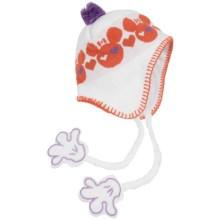 Screamer Sookie Beanie Hat (For Kids) in White/Orange - Closeouts
