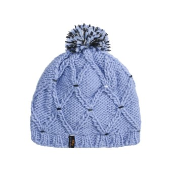 Screamer Stitch Beanie Hat (For Women) in Powder Blue