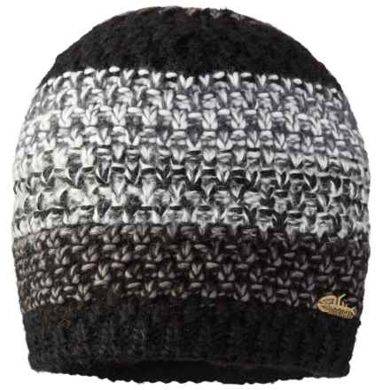 Screamer TWISTED LINED BEANIE (For Men AND WOMEN) in Black/Charcoal/White - Closeouts