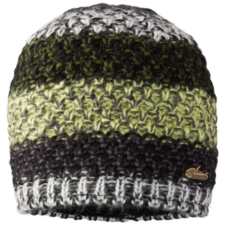 Screamer TWISTED LINED BEANIE (For Men AND WOMEN) in Black/Moss