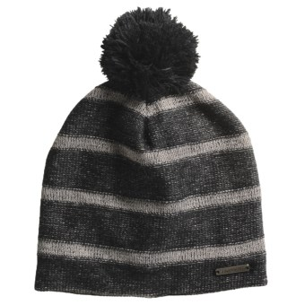 Screamer Twitter Beanie Hat - Fleece Lining (For Women) in Black