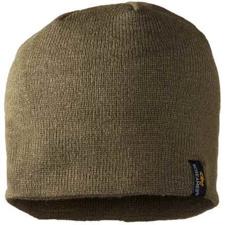 Screamer Unlined Knit Beanie (For Men) in Khaki - Closeouts