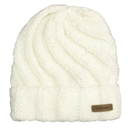 Screamer Vanessa Beanie Hat (For Women) in White/Grey