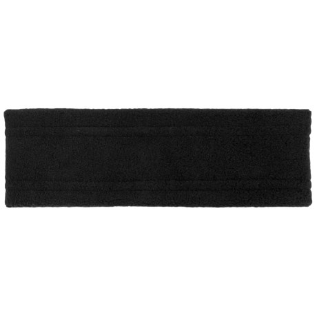 Screamer Wide Fleece Headband (For Kids) in Black