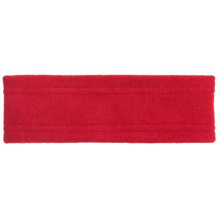 Screamer Wide Fleece Headband (For Kids) in Red - Closeouts