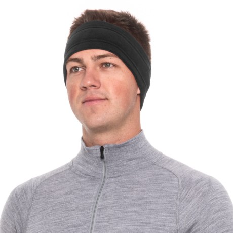 Screamer Wide SuperSoft Fleece Headband (For Men) in Black