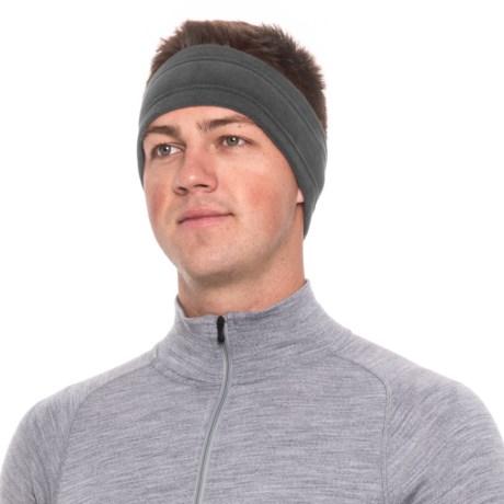 Screamer Wide SuperSoft Fleece Headband (For Men) in Charcoal