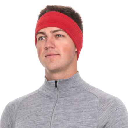 Screamer Wide SuperSoft Fleece Headband (For Men) in Red - Closeouts