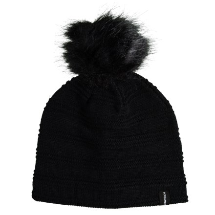Screamer Youth Faux-Fur Ripple Beanie (For Kids) in Black - Closeouts 6fad9b1f909c