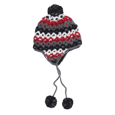 Screamer Ziggy Beanie Hat - Ear Flaps (For Women) in Black/Red