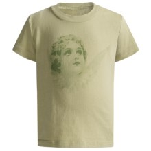 Screen Print T-Shirt - Short Sleeve (For Girls) in Light Green/Angel - 2nds