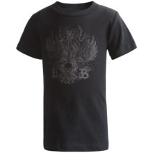 Screenprint T-Shirt - Short Sleeve (For Boys) in Black/Guitar - 2nds
