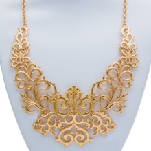 Scroll Bib Necklace in Gold - 2nds
