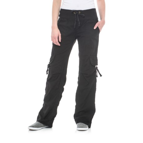 Scrunch Leg Stretch Cargo Pants (For Women)