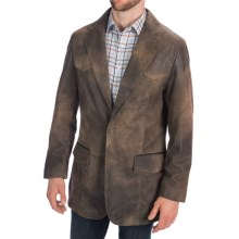 Scully Buffed Lamb Leather Blazer (For Big Men) in Brown - Closeouts