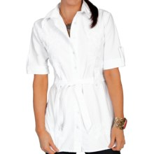 Scully Cantina Collection Tunic Shirt - Pima Cotton, 3/4 Sleeve (For Women) in White - Closeouts