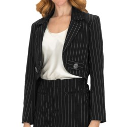 Scully Contemporary Western Pinstripe Bolero Jacket (For Women) in Black
