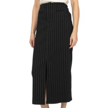 Scully Contemporary Western Pinstripe Skirt (For Women) in Black - Closeouts
