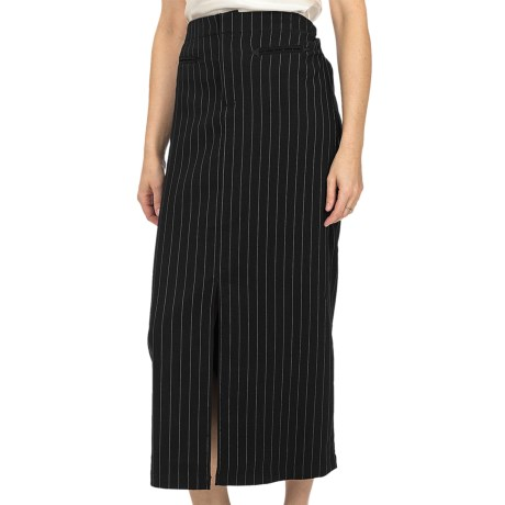 Scully Contemporary Western Pinstripe Skirt (For Women) in Black