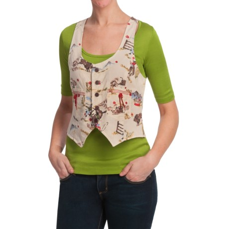 Scully Contemporary Western Vest (For Women) in Natural